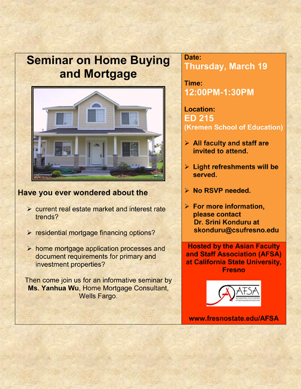Wells Fargo Seminar on Home Buying and Mortgage